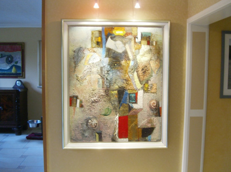 Galerie Wehr Steinkombination mit Schattenfuge