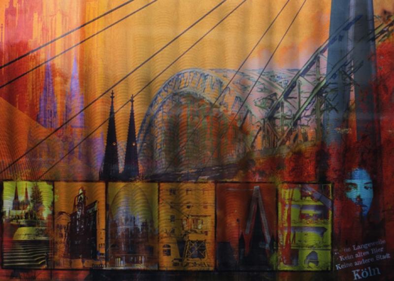 Welschenbach Köln auf Alu www.galerie-wehr.de