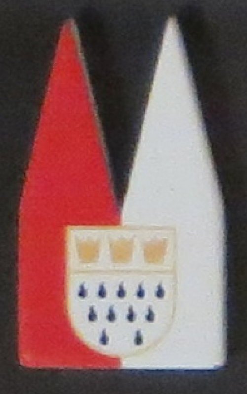 Dom rotweiß mit Wappen