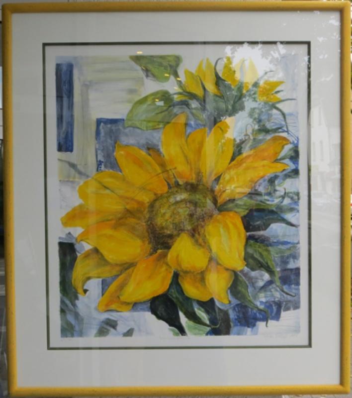 Lithographie Sonnenblumen