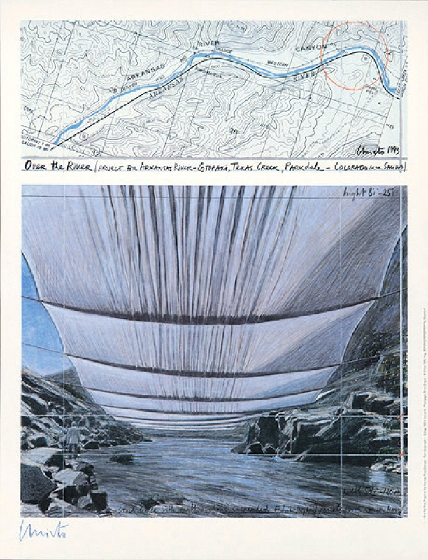 Christo - Over the river 2 underneath