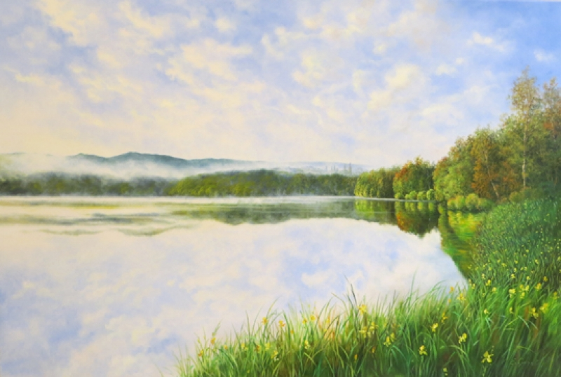 Gagel Nebel am See 80*120 cm