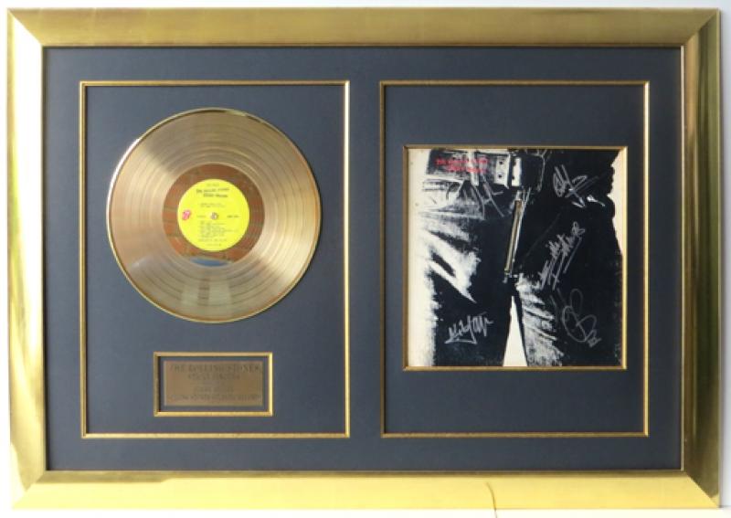 Rolling Stones goldene LP Rahmung