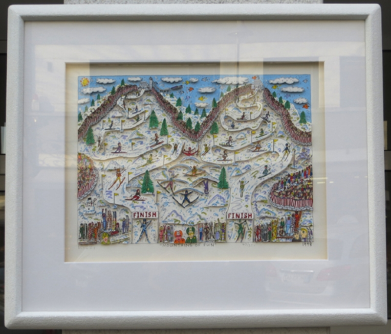 James Rizzi - RIZZI Mountains of fun Einrahmungsvorschlag