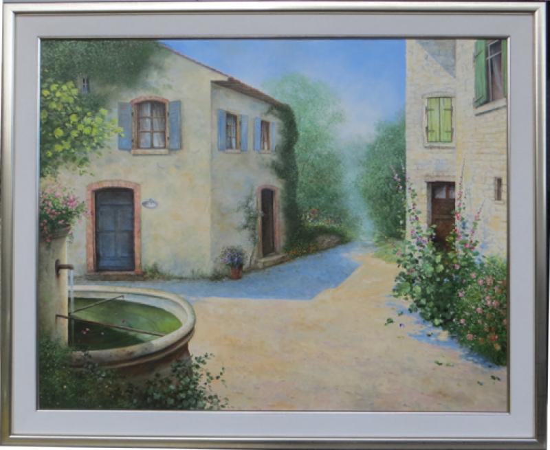 Gemälderahmen Gagelbild