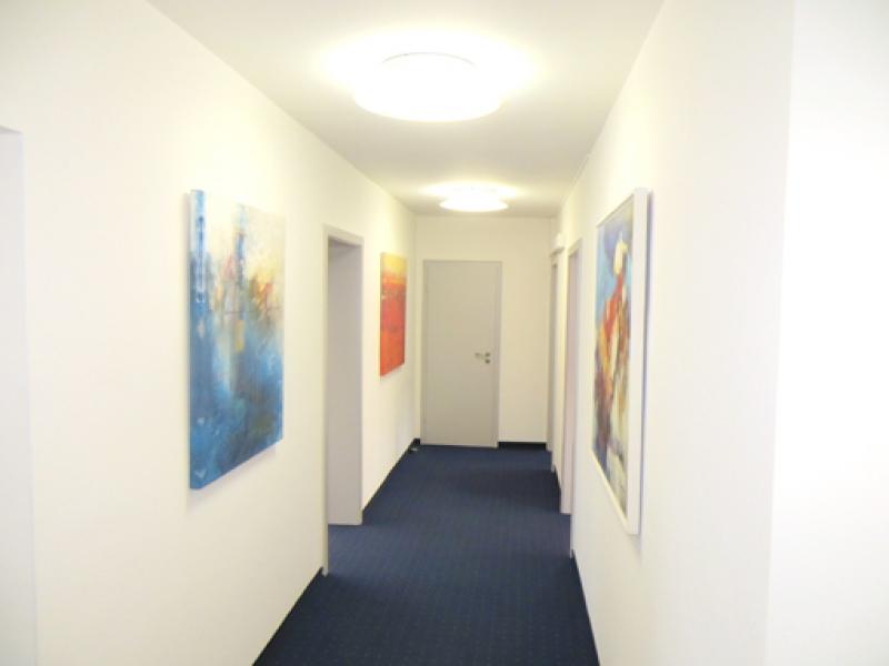 Kupfermann Blau abstrakt