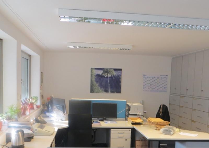 Münzfeld Leinwand fürs Büro