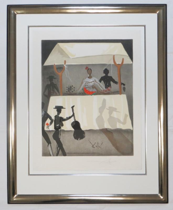 Dali im Platinmodellrahmen 23 ct Galerie Wehr