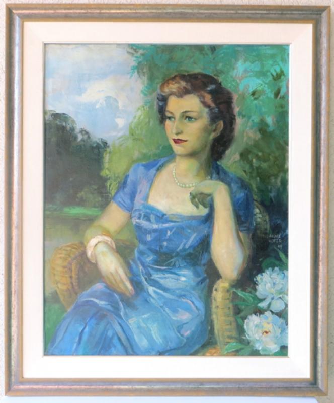 gereinigtes Gemälde in Galerie Wehr Rahmen