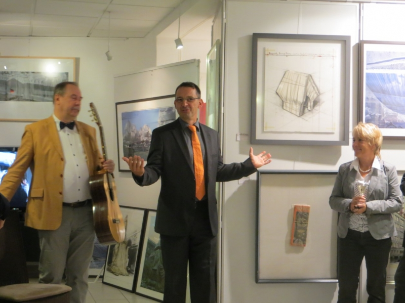 Christo in der Galerie Wehr