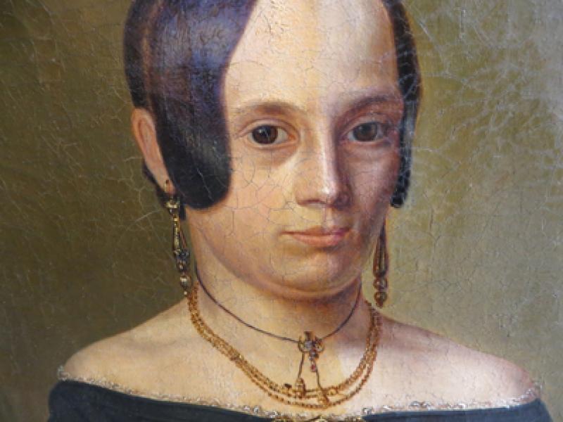 Biedermaier Portrait Reinigungsarbeiten Firnißabnahme