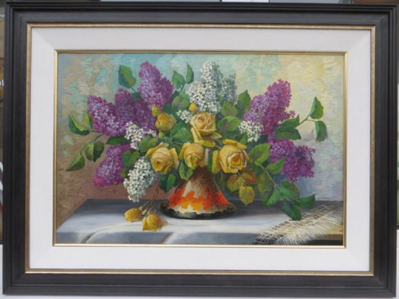 Blumenstrauss mit 3Rahmen Rahmenbeispiel