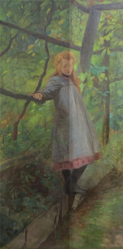 Reinigung Mädchen im Wald