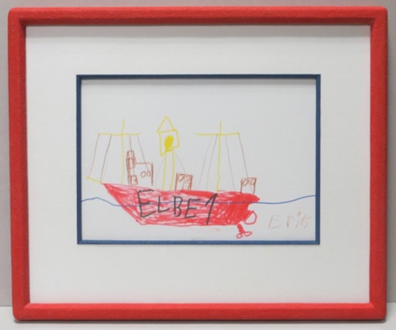 Einrahmung Kinderbild Elbe 1