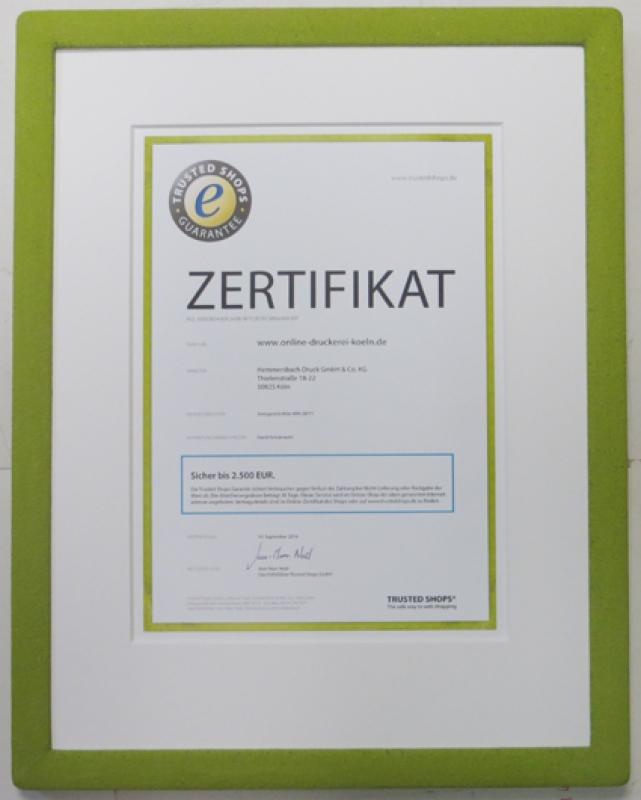 Urkunde Hemmersbach im Steinrahmen