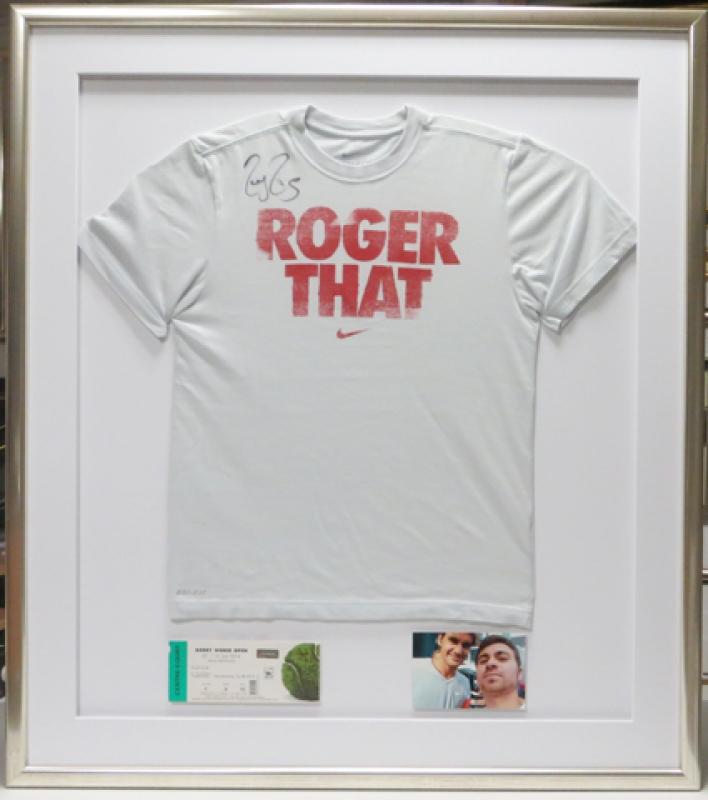 Roger Federer T-Shirt Rahmung
