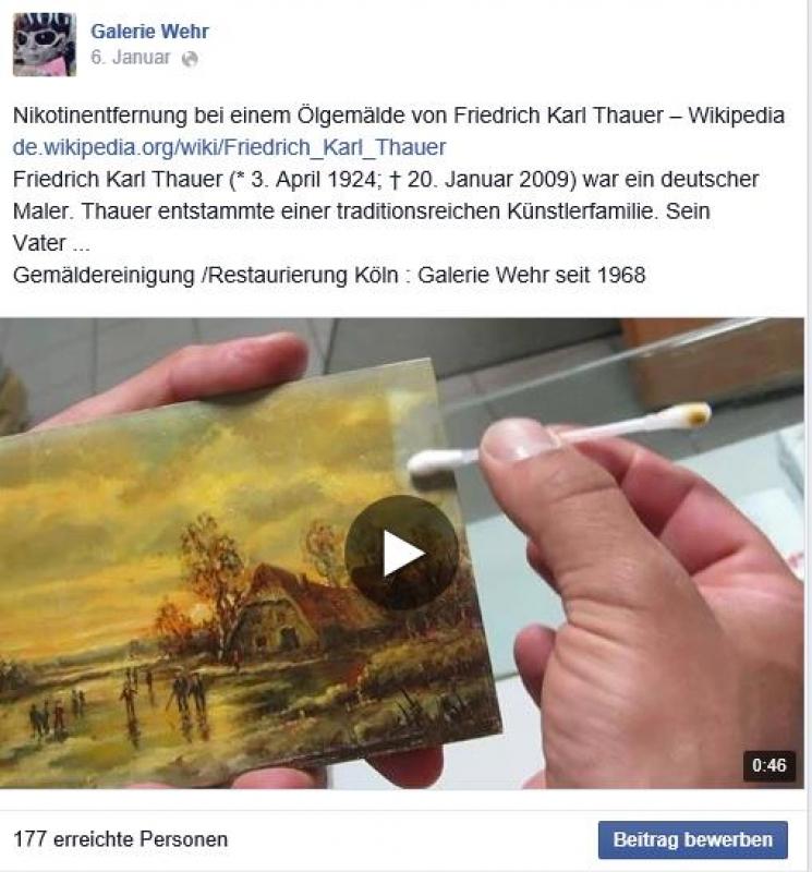 Friedrich Karl Thauer Gemäldereinigung
