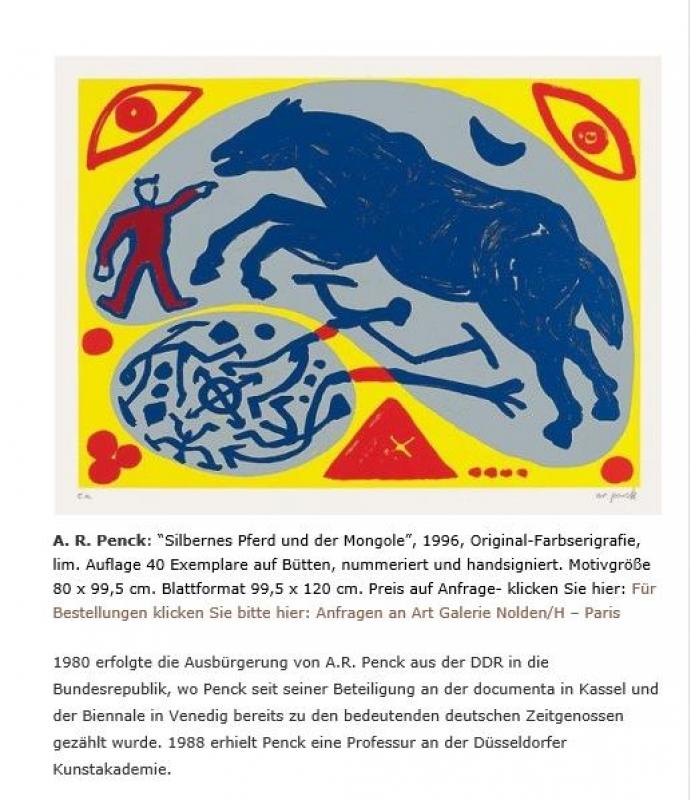 Silbernes Pferd und Mongole