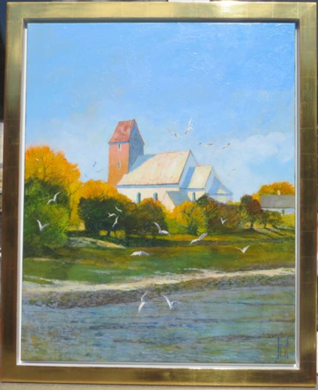 Uwe Herbst Kirche von Kaitum Sylt Rahmenbeispiel