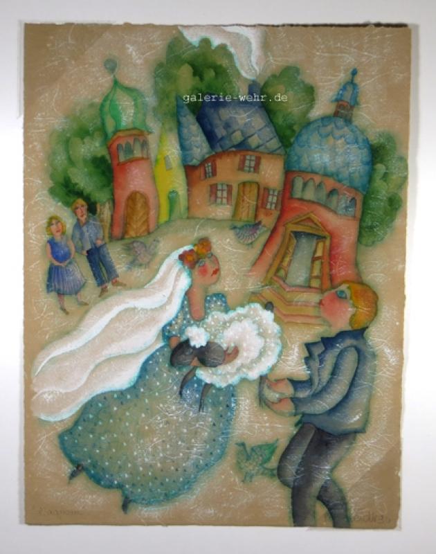 Francoise Derberdt l´agneau Aquarell nr 218