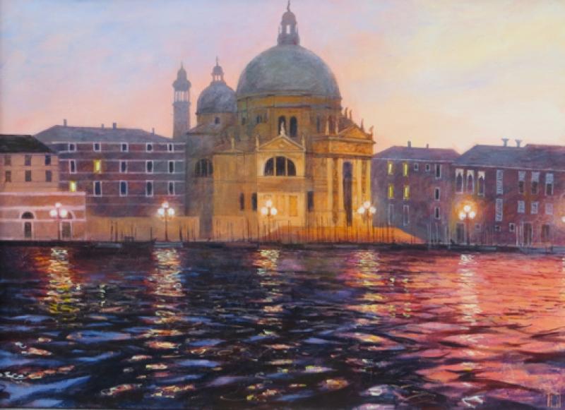 Uwe Herbst Nacht in der Salute Venedig