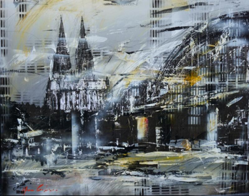 Henze Köln auf Aluplatte