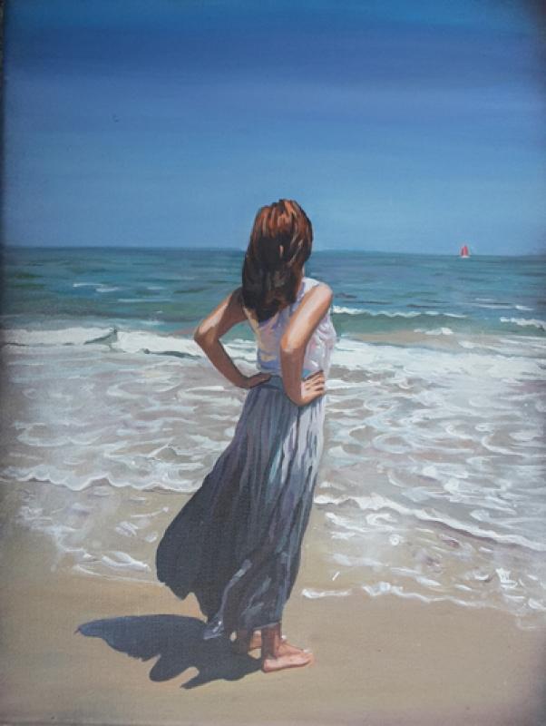 Marina Sailer Frau am Strand