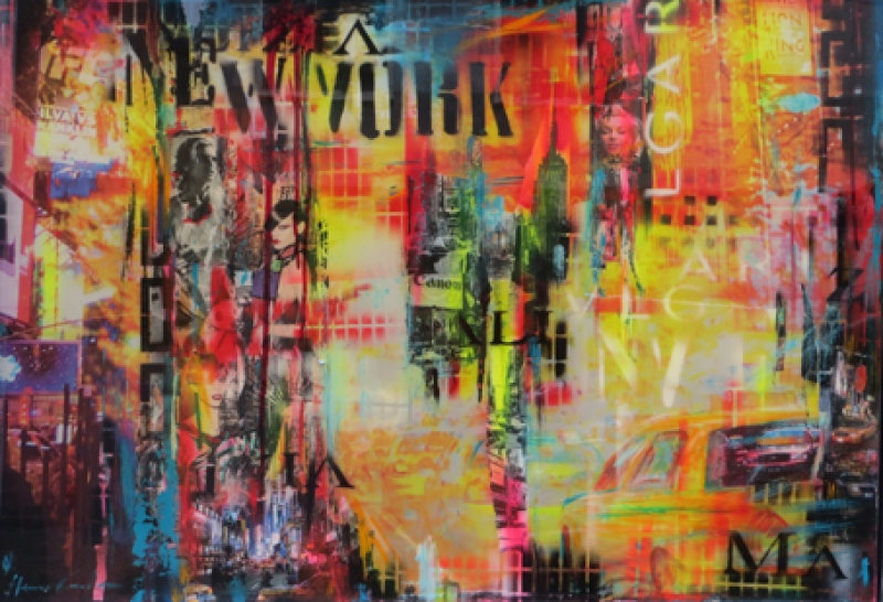 Christian Henze New York Lackcollage auf Alu wehr70100
