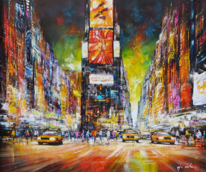 Christian Henze New York Nacht Grün100120 wehr