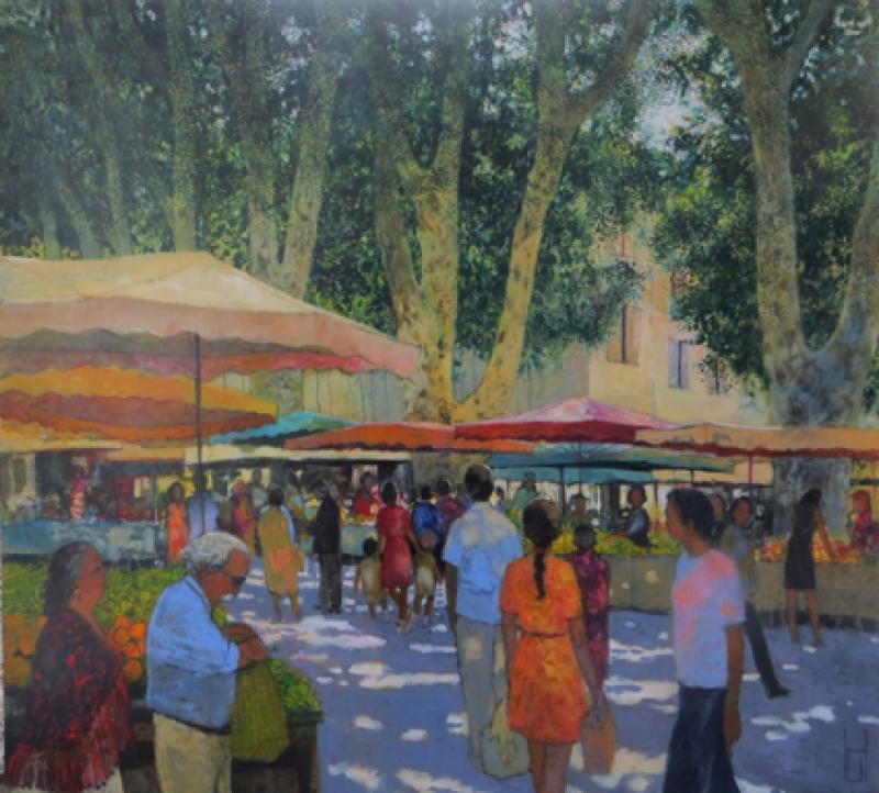 Uwe Herbst Markt in Aix wehr 110120