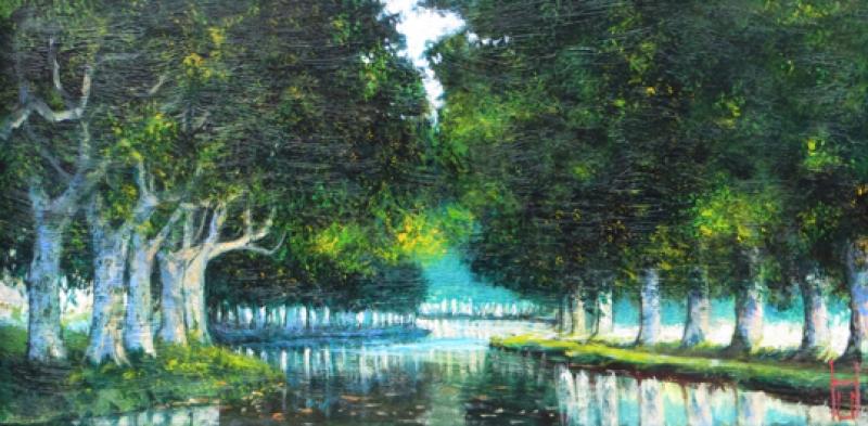 Uwe Herbst kleiner Canal grün