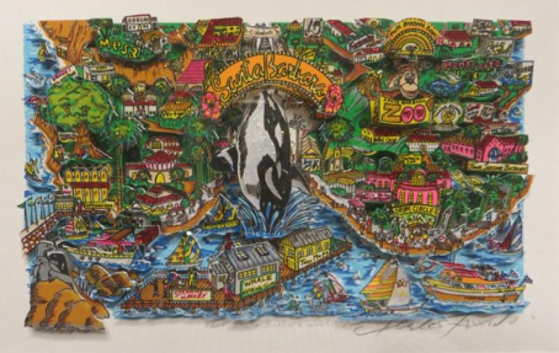 Charles Fazzino Santa Barbara Weekend Galerie Wehr