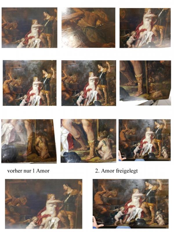 Kölnrestaurierung Gemäldereinigungköln Amorfreilegung