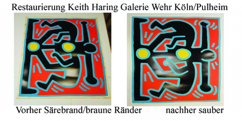 Keith Haring Säurebrandentfernung
