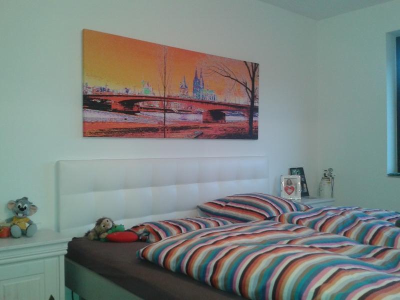 Kölnbild im Schlafzimmer