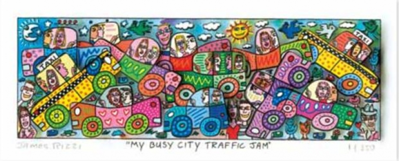 "James Rizzi RIZZI10267 ""MY BUSY CITY TRAFFIC JAM"" 6 x 18 cm"