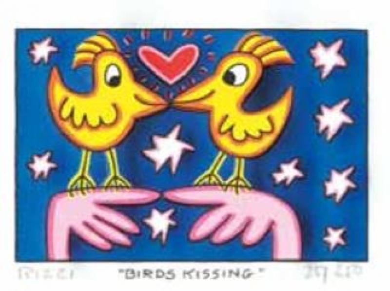 "James Rizzi RIZZI10262 ""BIRDS KISSING"" 5,1 x 7,7 cm"