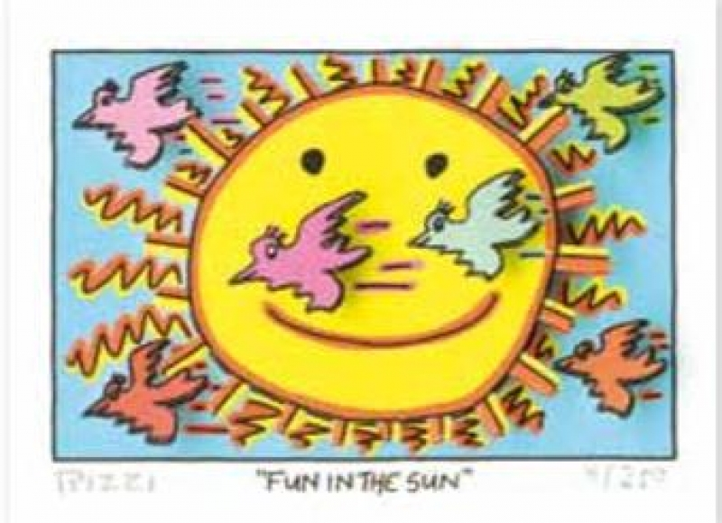 "James Rizzi ""FUN IN THE SUN"" 5,1 x 7,7 cm"