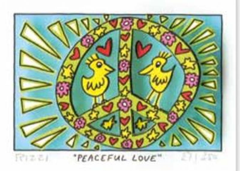 "James Rizzi RIZZI10257 ""PEACEFUL LOVE"" 5,1 x 7,7 cm"