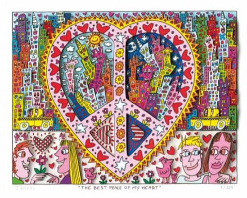 "James Rizzi RIZZI10184 ""THE BEST PEACE OF MY HEART"" 20,7 x 26,9 cm"