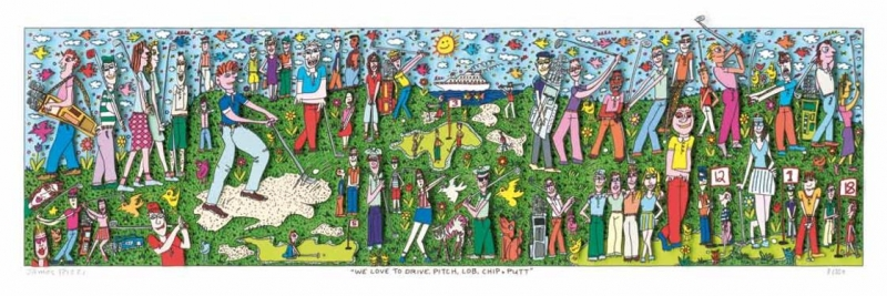 "James Rizzi RIZZI10186 ""WE LOVE TO DRIVE, PITCH, LOB, CHIP + PUTT"" 20,1 x 70,2 cm"