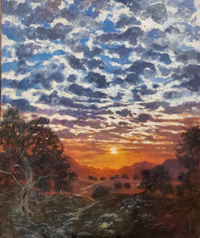 Uwe-Herbst-Sonnenuntergang-bei-Saint-Remy-en-Provence-100-x-120 wehr