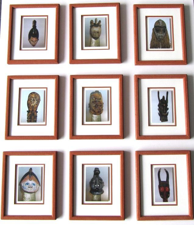 Afikanische Masken im Steinrahmen,rahmen-wehr.de