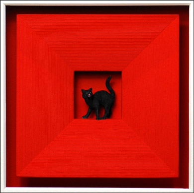 Volker Kühn - Cat in red