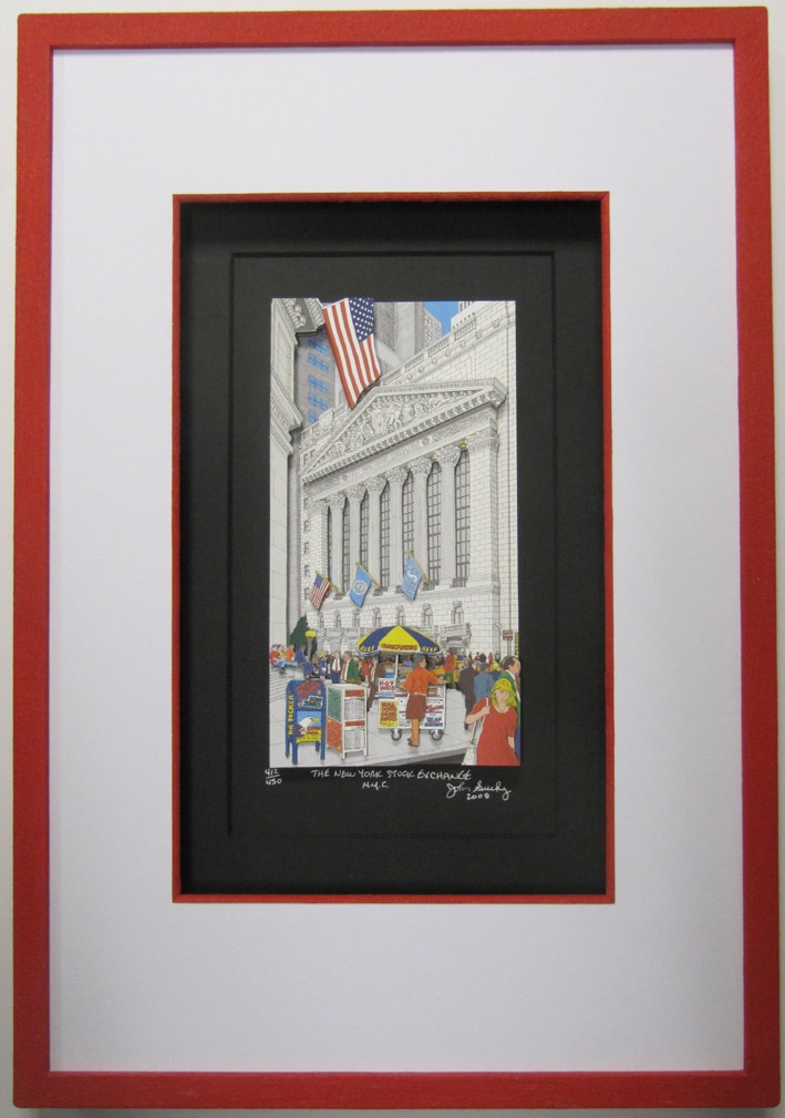 Rahmen Bilderrahmen - New York Stock exchange John Suchy 3-D-Popart