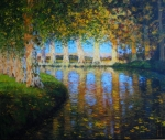 Sonnenuntergang Canal du midi