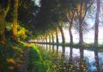 Sonnenaufgang am canal du midi