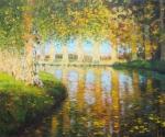 Uwe Herbst Platanen am Canal du Midi