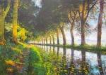 Uwe Herbst Canal Du Midi im Herbst in der Galerie Wehr