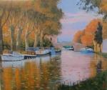 Uwe Herbst Boote auf dem Canal du midi Galerie Wehr